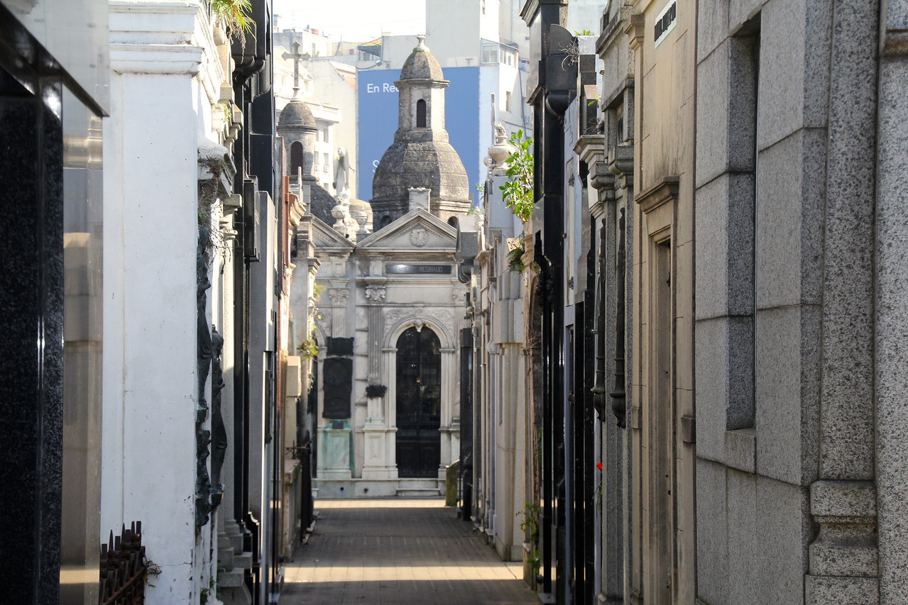 This cemetery is hailed as one the best in the world (with almost 5,000 vaults) and is located in the beautiful Recoleta section of BA. - Jay