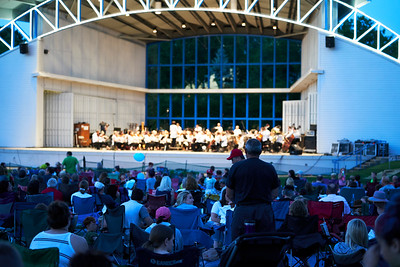 Joe Basilici stands to be recognized for his serice during the  Armed Forces Salute at Symphony for the Cities by the Minnesota Orchestra - July 2.