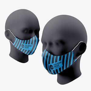 Medical face mask mockup on white background