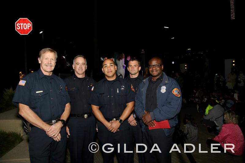 Captain Adrian Blackson, Firefighter Darrell Nebril, FF Pete Chase, Battalion Chief David Connor, Engineer Eric Barnard