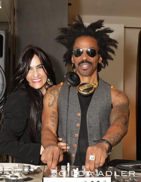 LAURA GAMBUCCI WITH DJ RATTY