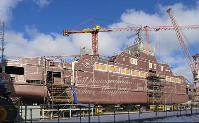Ben Woollacott under construction in Gdansk Poland