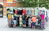 June 8th 2016. Clothing stall, Beresford square