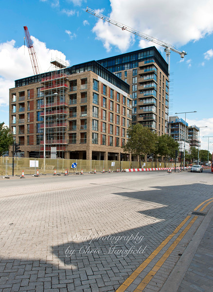August 22nd 2014..  New apartments on Plumstead road opposite the covered market
