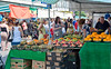 July 26th 2014 Fruit stall near the Equitable building with Derek Williams