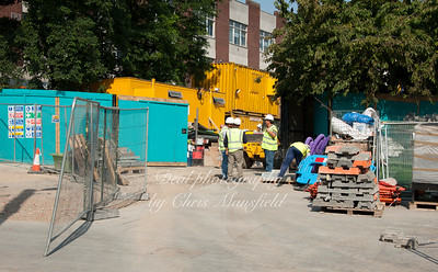 July 4th 2011. Repaving work in Beresford square