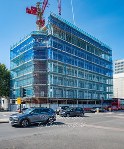 Aug' 22nd 2019,  Beresford street at junction with macbean street.. The office block known as Royal Sovereign house is being converted into apartments.. two extra floors were added