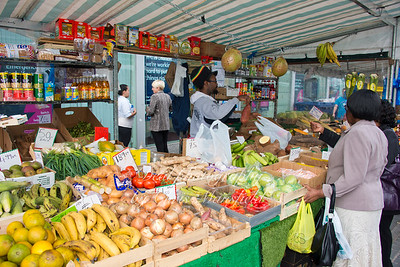 July 12th 2012. Caribbean food stall on Greens end