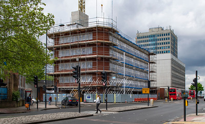 May 9th 2019 .  Beresford street at junction with Macbean street..   Royal Sovereign house is being converted from an office block to apartments