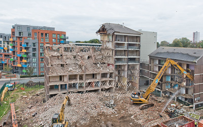 Oct' 15th 2015. Connaught demolition