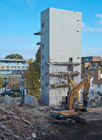 Oct' 26th 2015. Connaught demolition