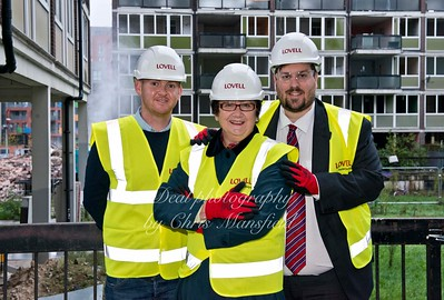 Nov' 10th 2015.  Council leader Denise Hyland and Danny Thorpe visits the connaught site