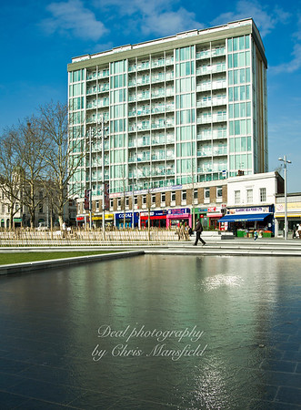March 2012.. Water feature in GG Square