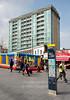 April 8th 2015. Bouncy castle in Gordon square .
