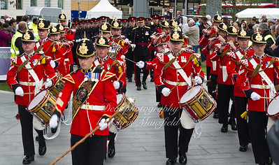 Oct' 8th 2011 . 2nd Batallion Prince of wales royal regiment band