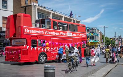June 1st 2019..  Greenwich Volunteers week info bus