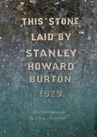 Aug' 11th 2014..  Foundation stone on the old Burtons building ..