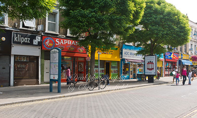 August 21st 2013.. Row of shops on Hare street