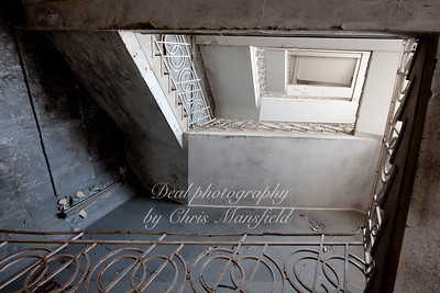 Staircase in the old Co op building