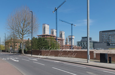 April 19th 2018..   John Wilson st looking towards the new builds in Wellington street