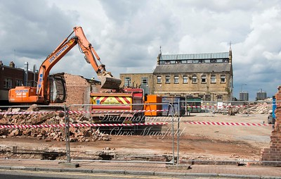 Sept' 3rd 2015. Callis yard demolition