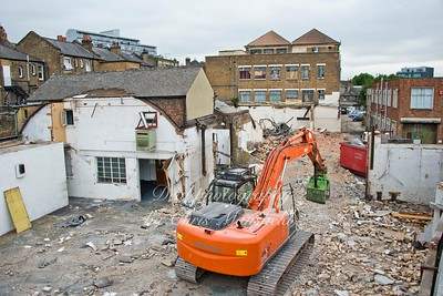 July 14th 2015. Demolition of part of the Macbean centre / Murrays yard