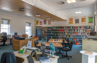 July 4th 2018 . Inside the reading room at the Greenwich heritage centre