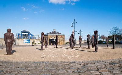 Feb' 17th 2018.  Peter Burke statues near the riverside