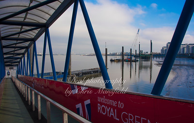 Feb' 15th 2017 Royal Arsenal pier is being extended to accomodate the tall ships due later in the year