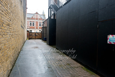 This is the rear yard where prison vans would unload