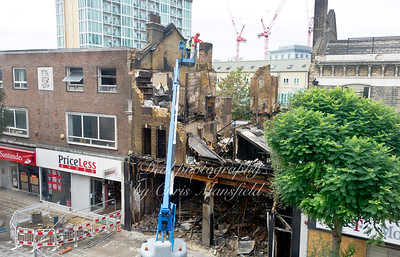 Aug' 11th 2011.. Burnt out shop in Powis street
