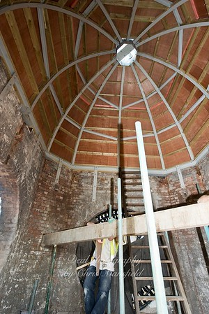 May 25th 2012 .  Inside the coop clock tower on Powis street