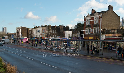 Jan 8th 2015. Plumstead road , shops between covered market and parry place