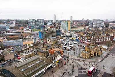 March 3rd 2017.  Aerial view from 14th floor of Compton house