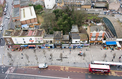 March 3rd 2017 Aerial view of Plumstead road from 14th floor of Compton house