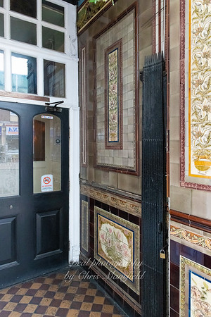 May 16th 2019.  Original tilework at the front of the Earl of Chatham pub