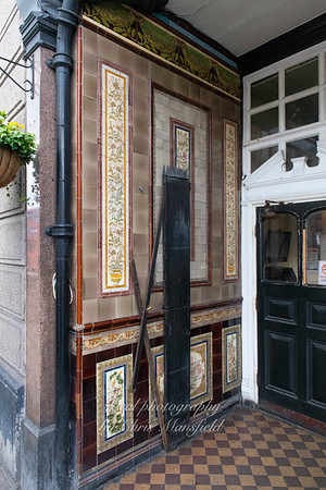 May 16th 2019 ..  Original tilework from 1898 in the doorway of the Earl of Chatham pub ... tiles were by A.T.S Carter of Brockley