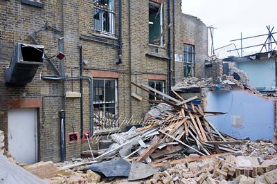 Jan 9th 2012 .  rear of post office during demolition