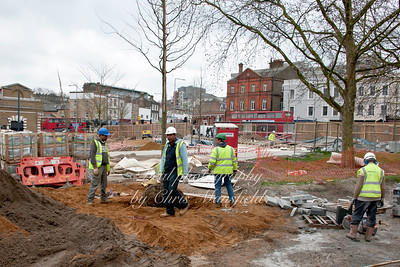 tree planting in 2 general gordon square march 2011