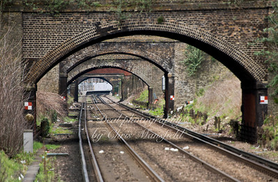 April 5th 2015. View from Plumstead station towards Woolwich arsenal station