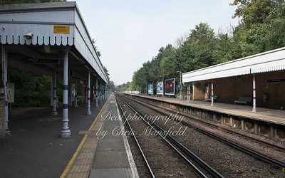 Sept' 16th 2014.  Plumstead station,  looking west