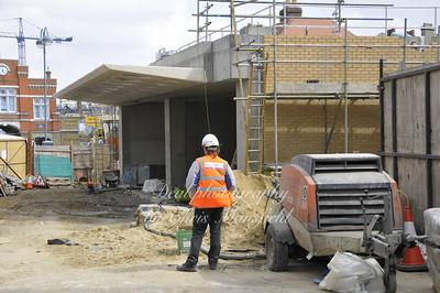 April 17th 2008 DLR station construction