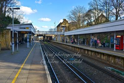 Feb' 22nd 2014. Plumstead station looking east