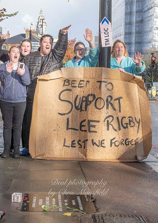 Nov' 7th 2018 .  Lee Rigby memorial supporters