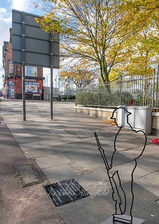 Nov' 3rd 2018.  Just beyond the top of Wellington street , at the site of fusilier Lee Rigby's murder,  an unofficial memorial stone has been laid