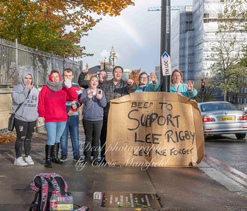 Nov' 7th 2018.  Lee Rigby memorial supporters
