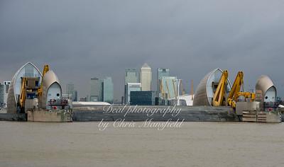 Jan 3rd 2014.  Thames Barrier closure