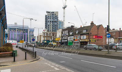 Jan' 14th 2018.  Woolwich high street from corner of Glass yard