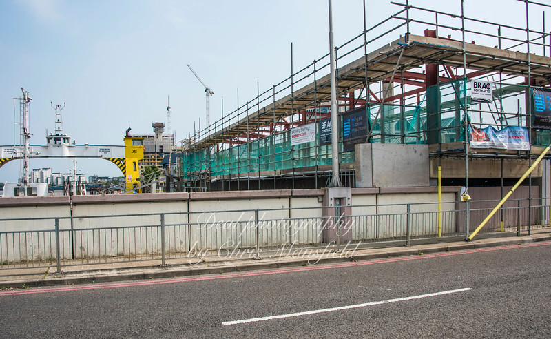 Aug' 27th 2016.  New ferry operational offices under construction