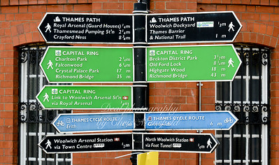 August 15th 2014 ,, Lots of signs near the foot tunnel